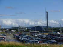 A BBC épülete, a Science Centre és a helikopter leszálló