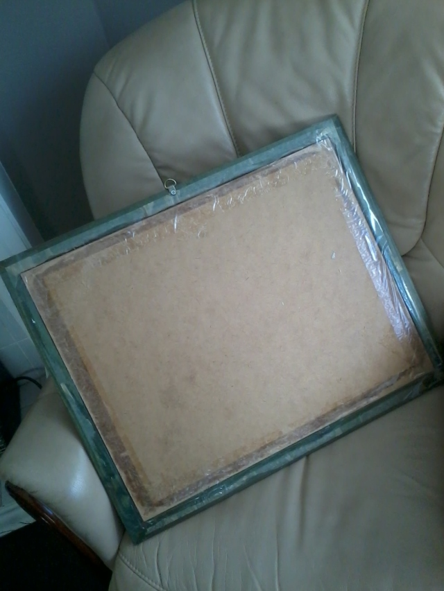 picture frame with tape